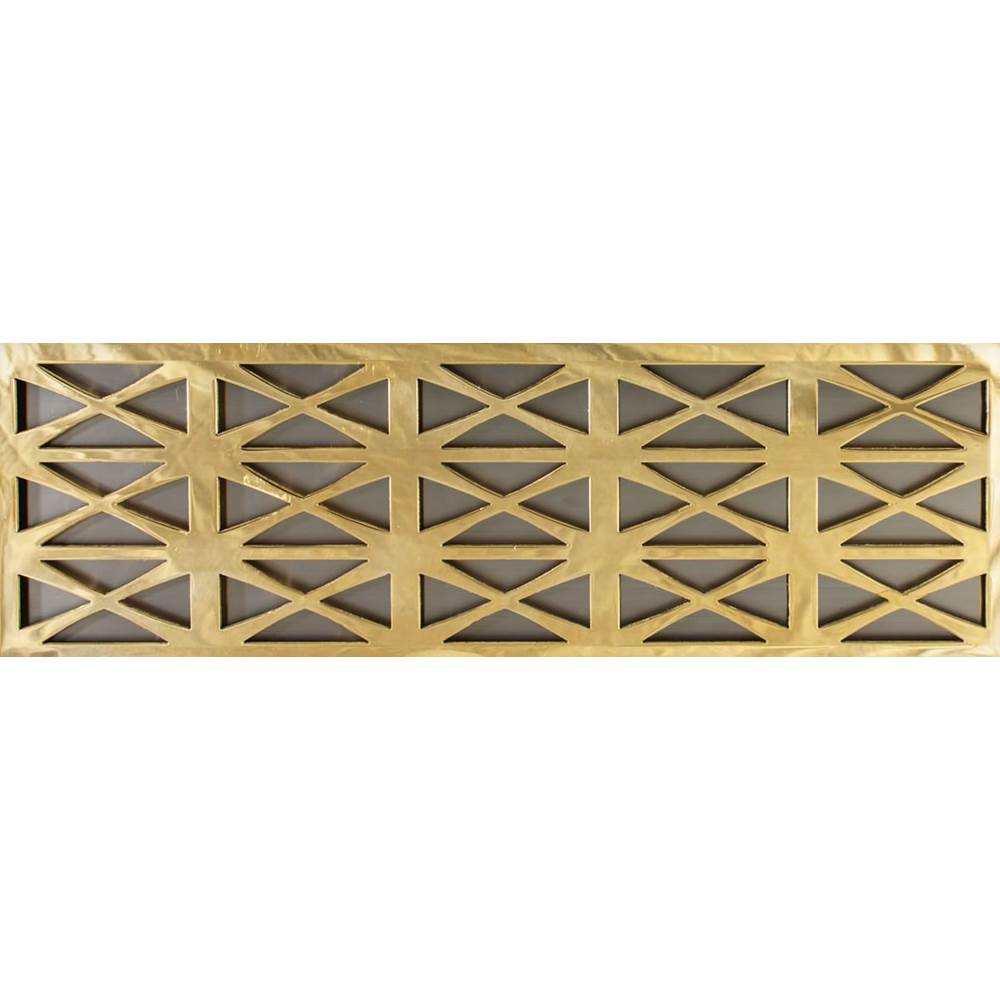Linkasink Panel  Small - Spoke - Polished Unlacquered Brass