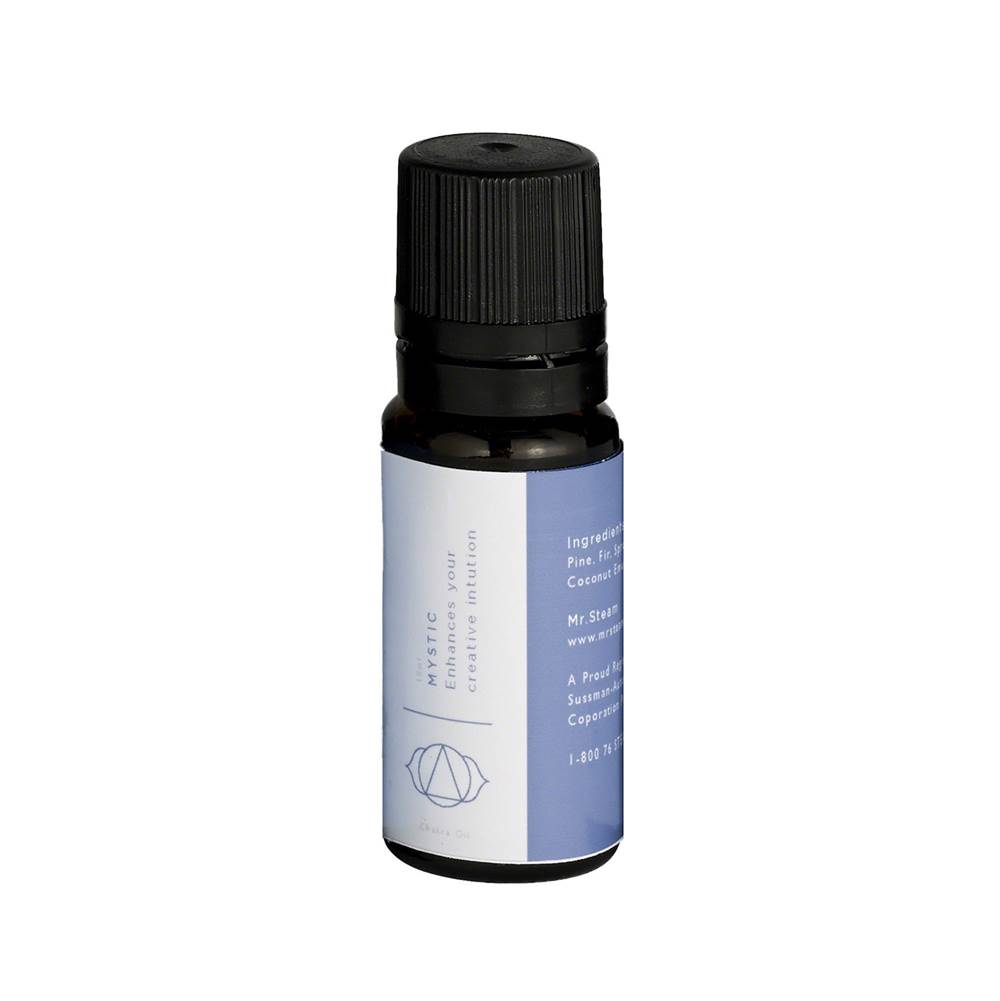 Mr. Steam Mystic Blue Chakra Oil 10ml bottle for use with Steam Head and Towel Warmer wells