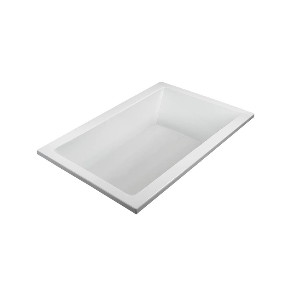 MTI Basics 72X42 White Soaking Bath Undermount