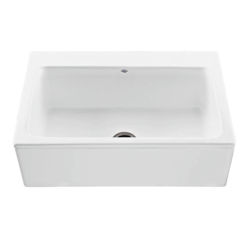 MTI Basics 33X22 Biscuit Plain Front Single Bowl Basics Farmhouse Sink-Mccoy