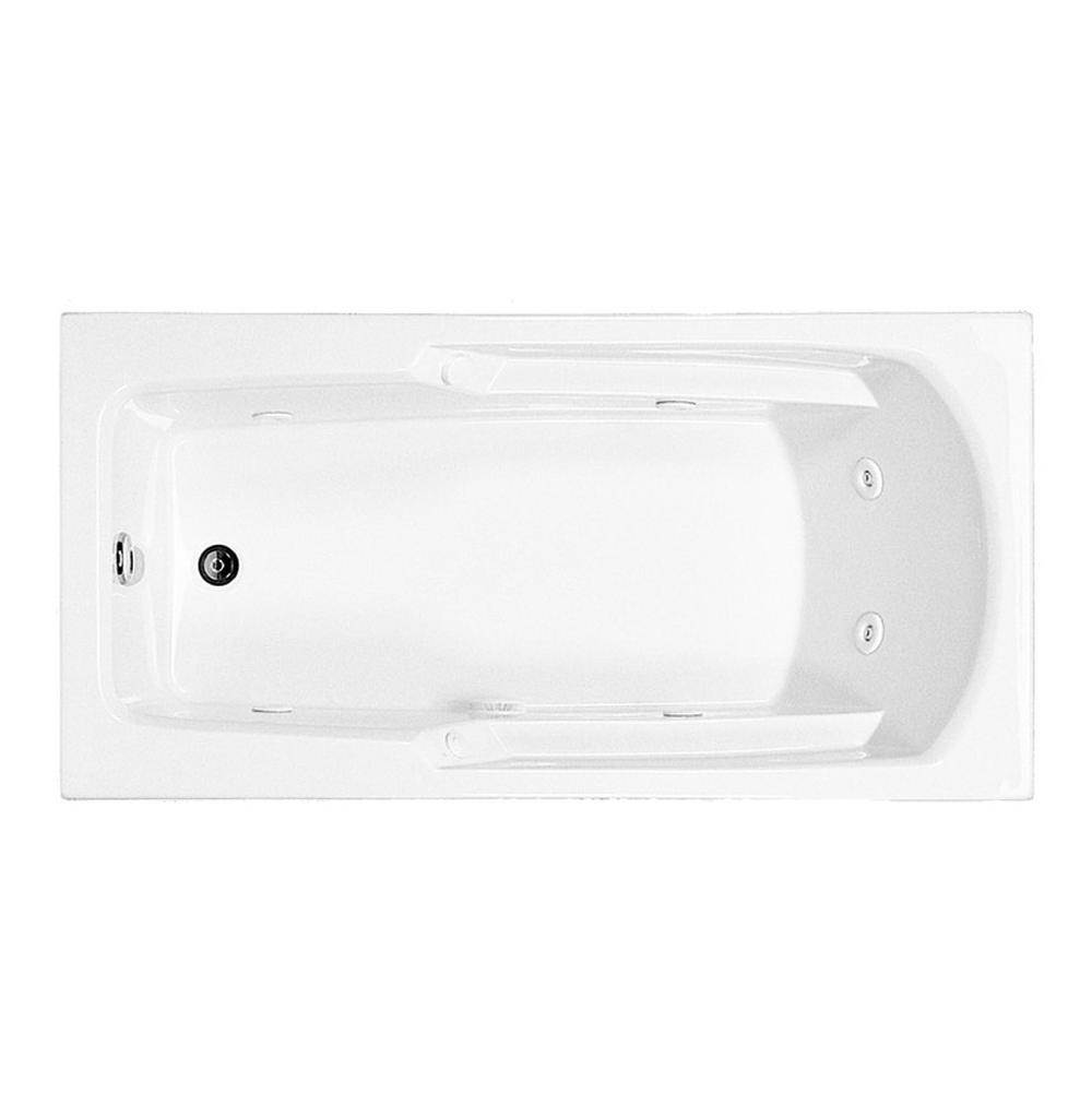 MTI Basics 60X30 White Whirlpool Bath-Basics