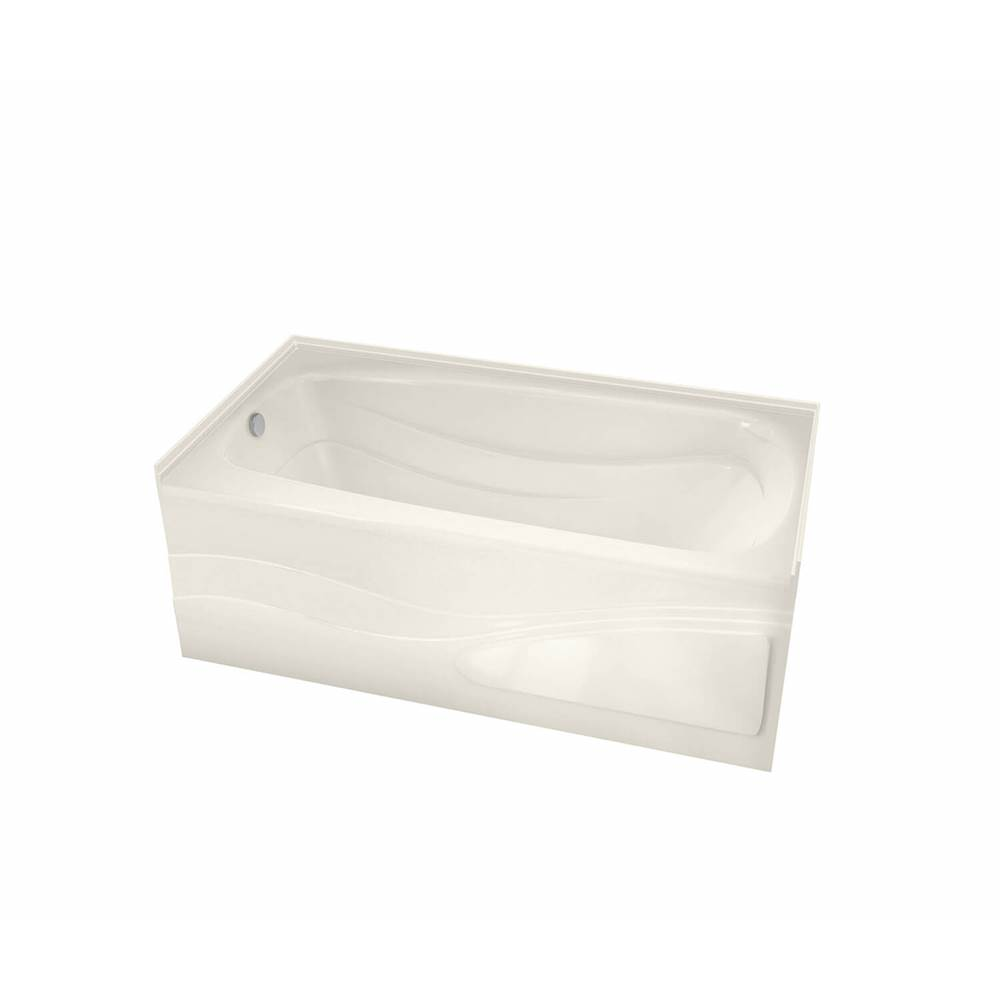 Maax Tenderness 59.875 in. x 35.75 in. Alcove Bathtub with Aeroeffect System Left Drain in Biscuit
