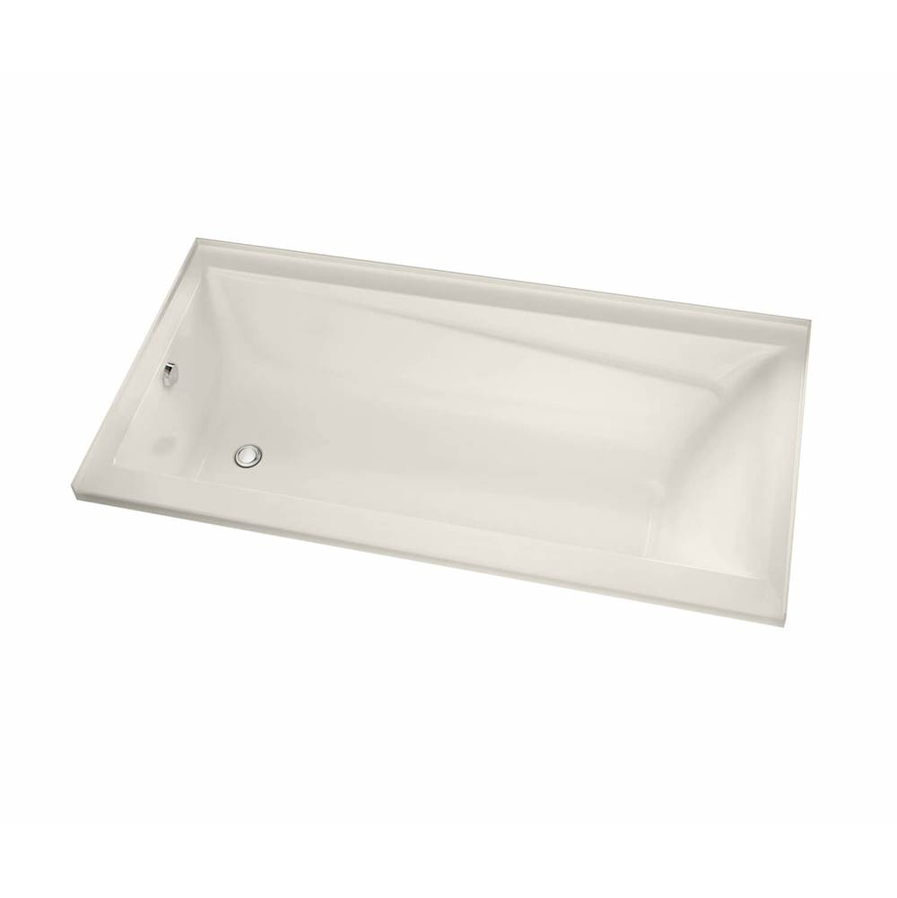 Maax Exhibit IF 59.75 in. x 31.875 in. Alcove Bathtub with Aeroeffect System Left Drain in Biscuit