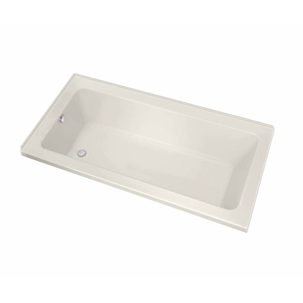 Maax Pose IF 59.625 in. x 29.875 in. Corner Bathtub with Whirlpool System Right Drain in Biscuit