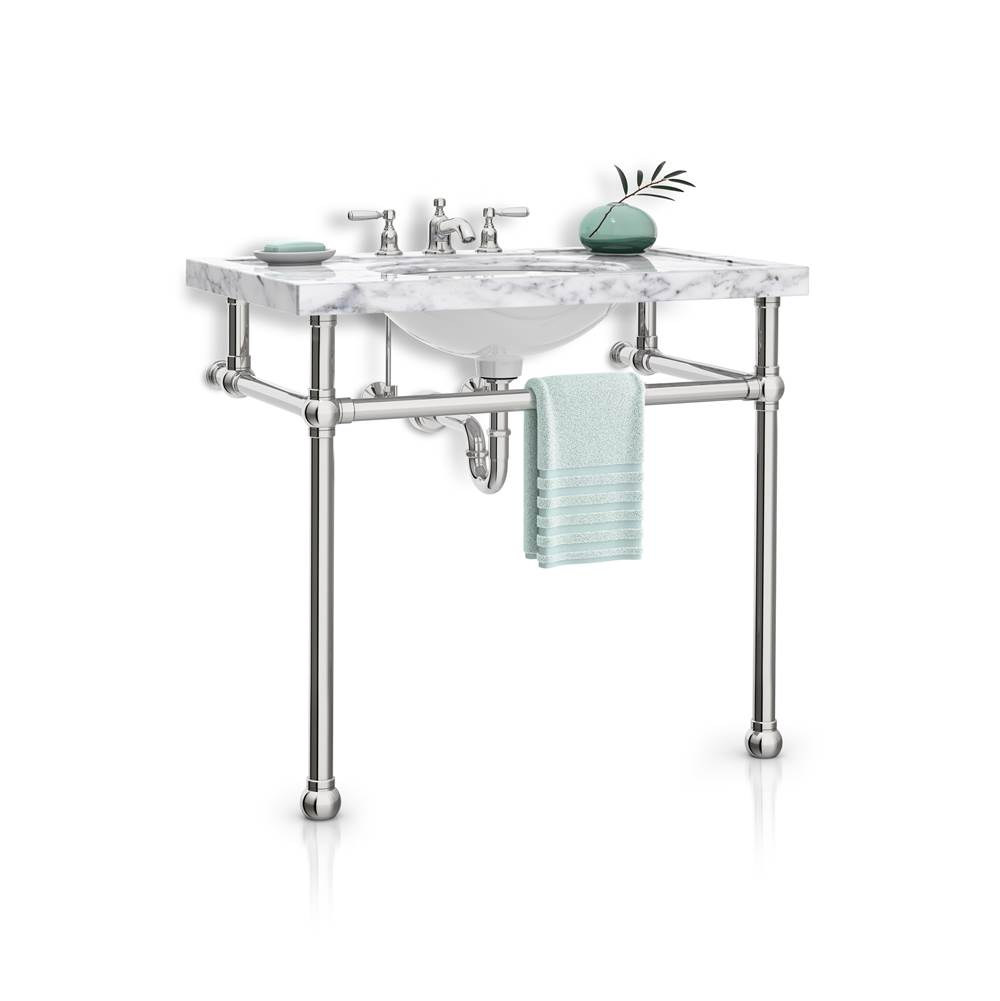 Palmer Industries Ball Foot Vanity Console - 2 Leg Configuration