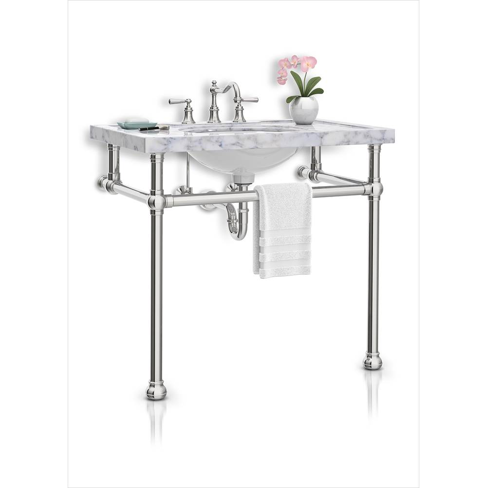 Palmer Industries Bun Foot Vanity Console - 2 Leg Configuration