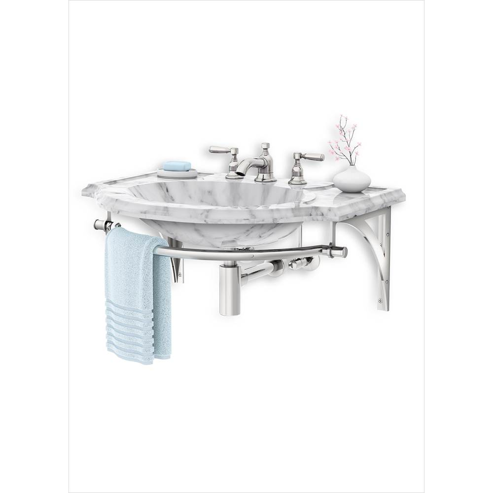 Palmer Industries Regency Wall Mount Vanity Console - 2 Bracket Configuration