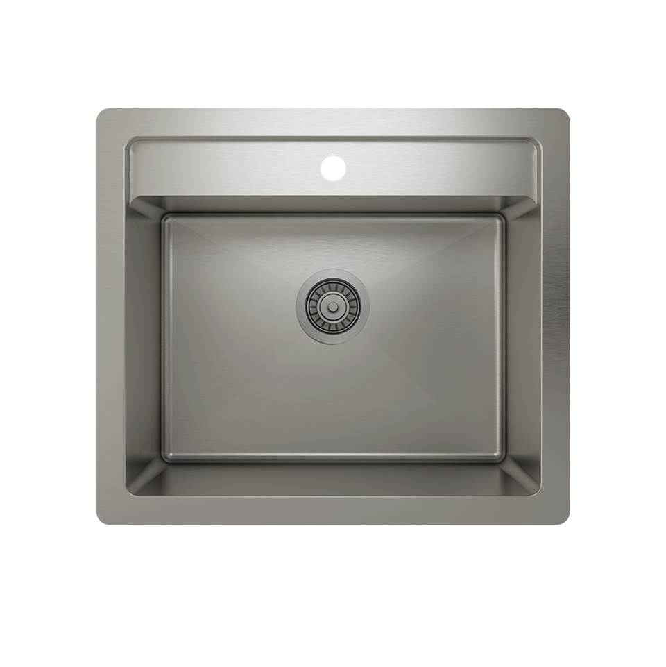 Pro Chef ProInox H75 dualmount, single 22X16X12
