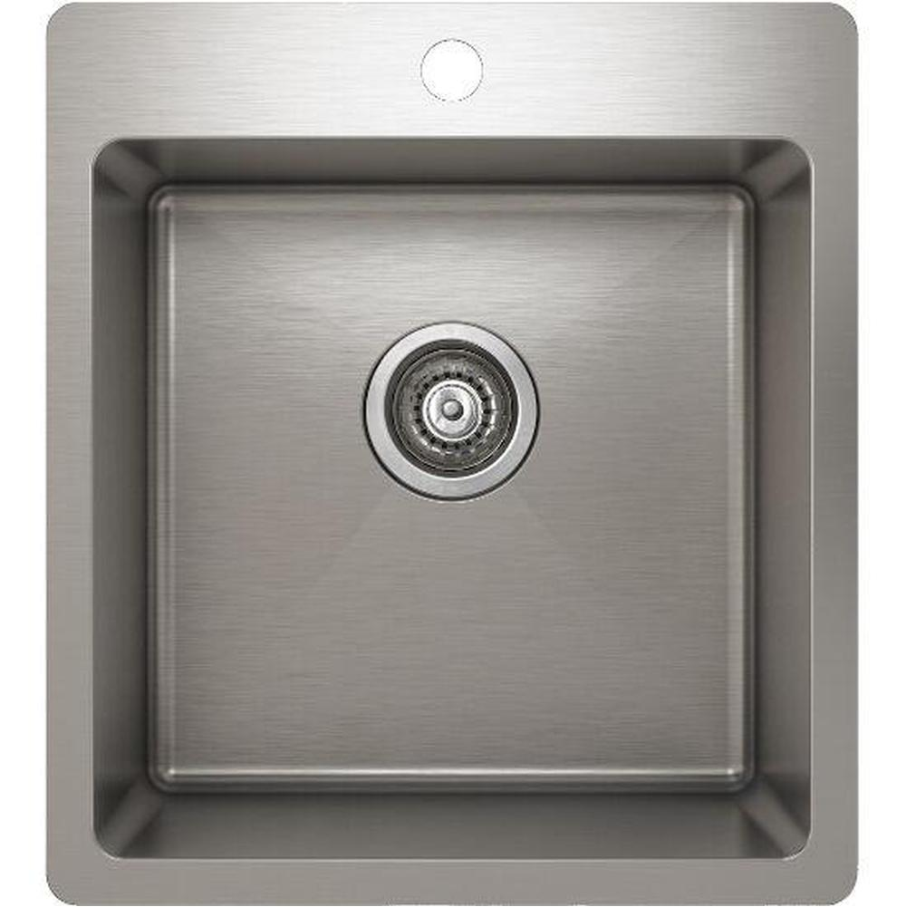 Pro Chef ProInox H75 sink topmount, single 16X16X9
