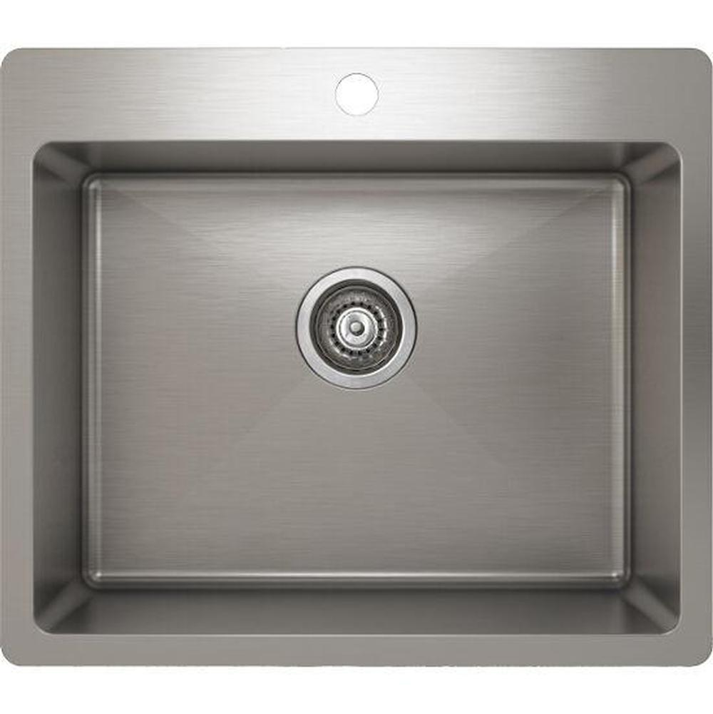 Pro Chef ProInox H75 sink topmount, single 21X16X9