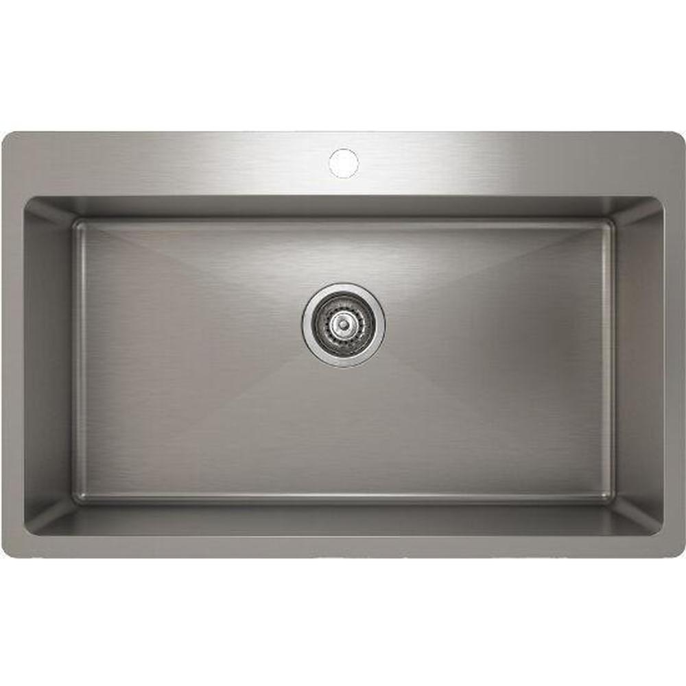 Pro Chef ProInox H75 sink topmount, single 30X16X9