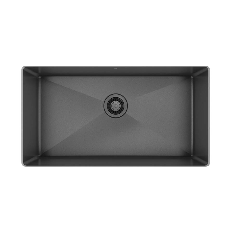 Pro Chef Prochef Single Bowl Undermount Kitchen Sink Proinox H75 Gunmetal Black Stainless Steel, 30X16X10