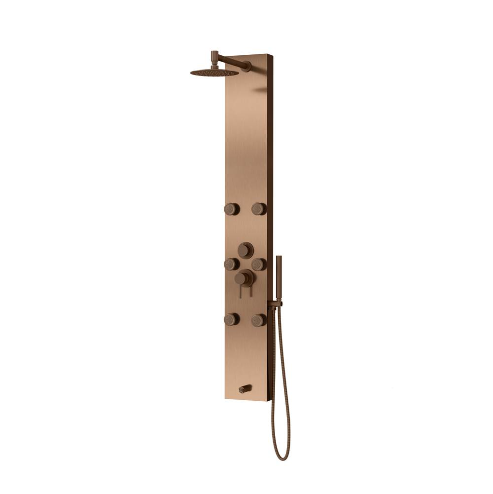 Pulse Shower Spas PULSE ShowerSpas Monterey Stainless Steel Oil-Rubbed Bronze ShowerSpa
