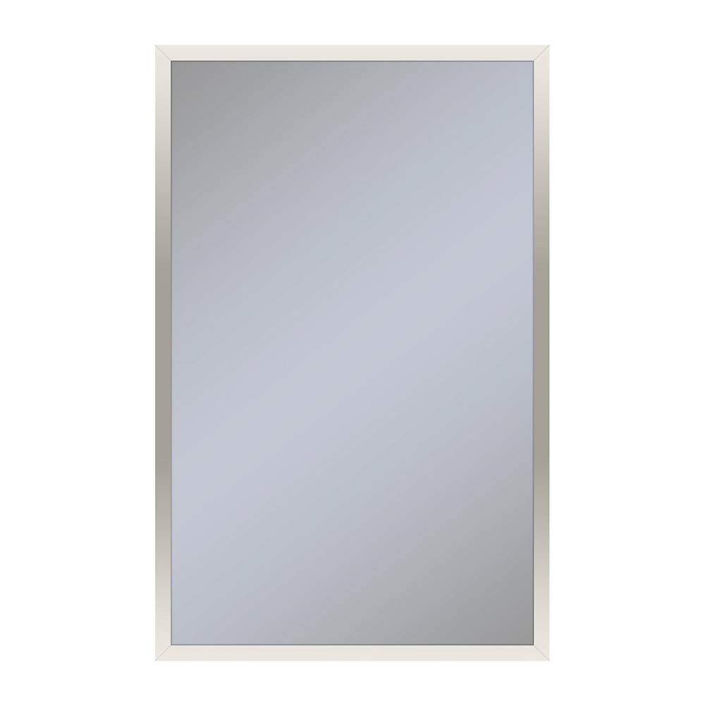 Robern Profiles Framed Cabinet, 20'' x 30'' x 4'', Polished Nickel, Non-Electric, Reversible Hinge