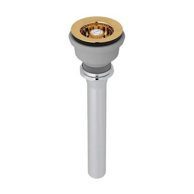 Rohl Kit Shaws 2054 Mini Basket Strainer Drain In English Gold For Sinks Or Basins With 2 1/2'' Diameter Drain Opening Including Shaws Belfast Rb…