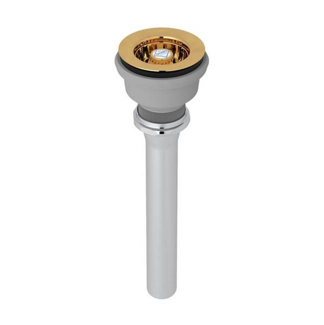 Rohl Kit Shaws 2054 Mini Basket Strainer Drain In Italian Brass For Sinks Or Basins With 2 1/2'' Diameter Drain Opening Including Shaws Belfast R…