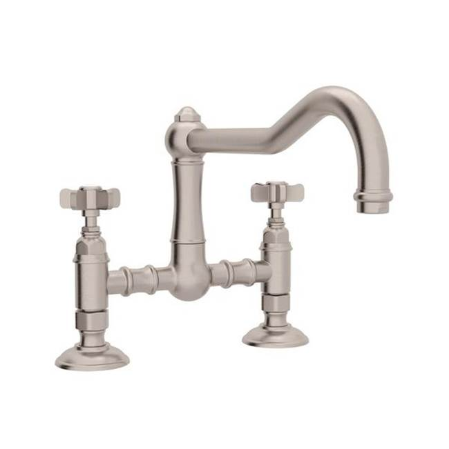 Rohl Rohl Country Kitchen Deck Mounted Bridge Faucet