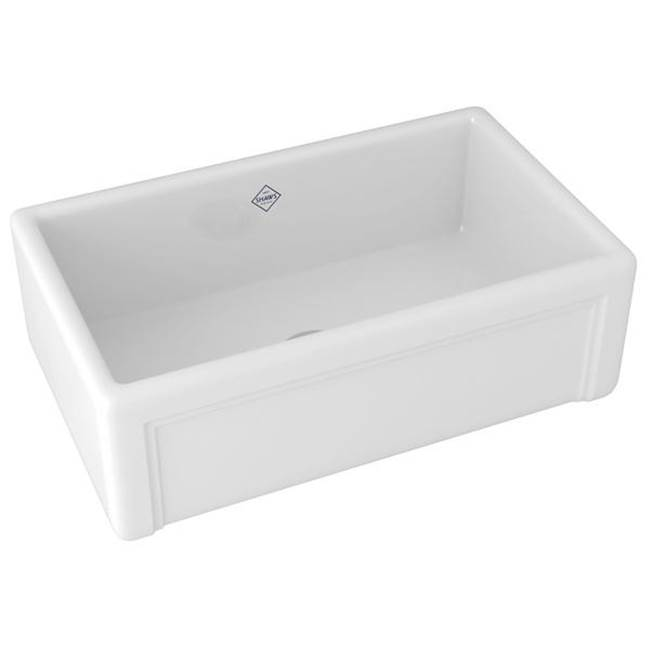 Rohl Shaws Egerton Casement Edge Apron Front Fireclay Kitchen Sink White 30'' X 18'' X 10