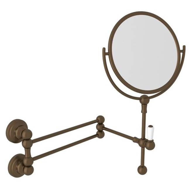 Rohl Perrin & Rowe® Edwardian Wall Mount Shaving Mirror in English Bronze