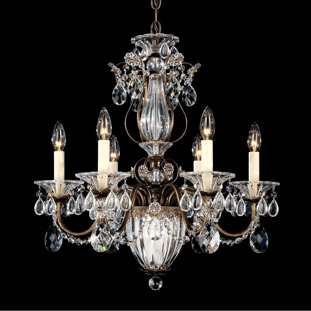 Schonbek Bagatelle 7 Light 110V Chandelier in Etruscan Gold with Clear Spectra Crystal