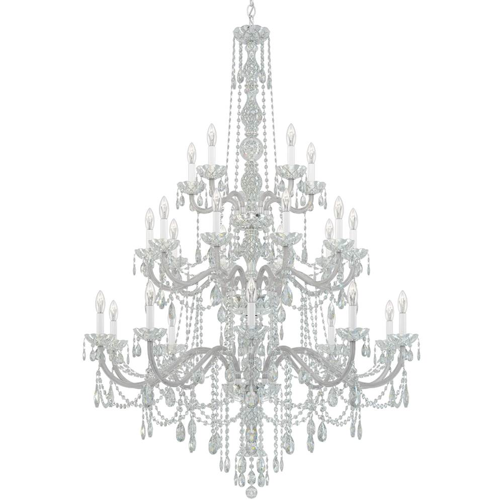 Schonbek Arlington 25 Light 110V Chandelier in Silver with Clear Heritage Crystal