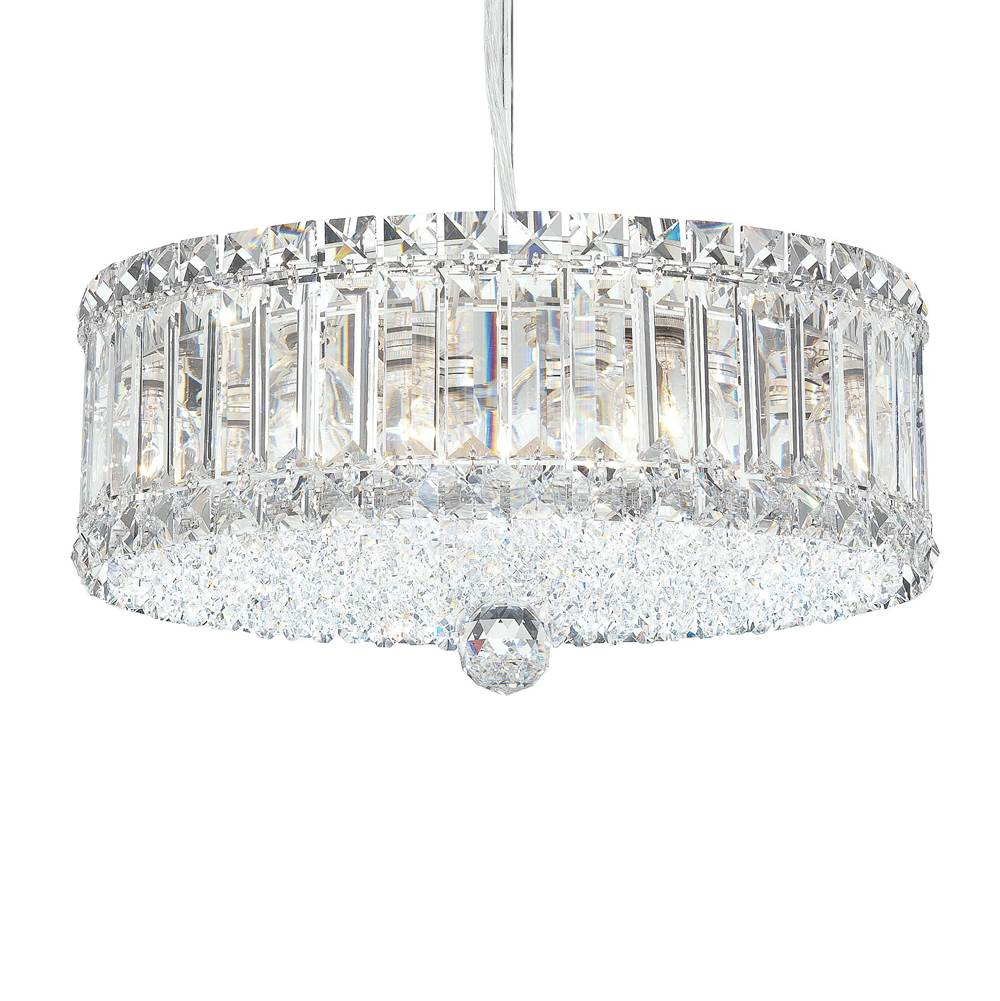 Schonbek Plaza 9 Light 110V Pendant in Stainless Steel with Clear Spectra Crystal