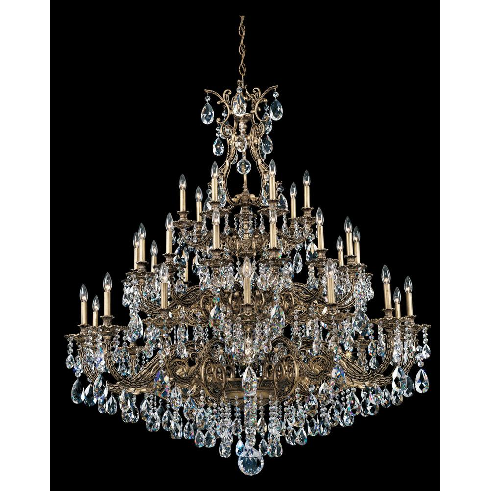 Schonbek Sophia 35 Light 110V Chandelier in Antique Silver with Clear Optic Crystal