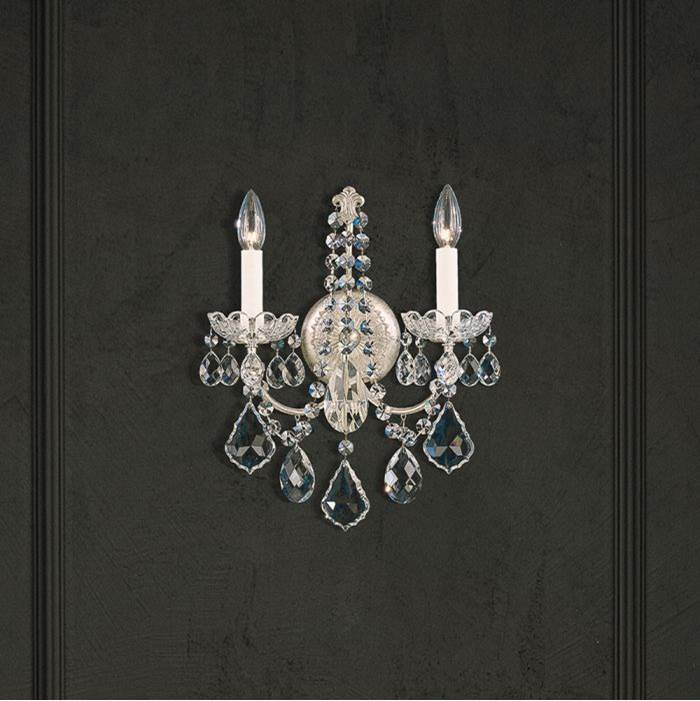 Schonbek New Orleans 2 Light 110V Wall Sconce in French Gold with Clear Crystals From Swarovski®
