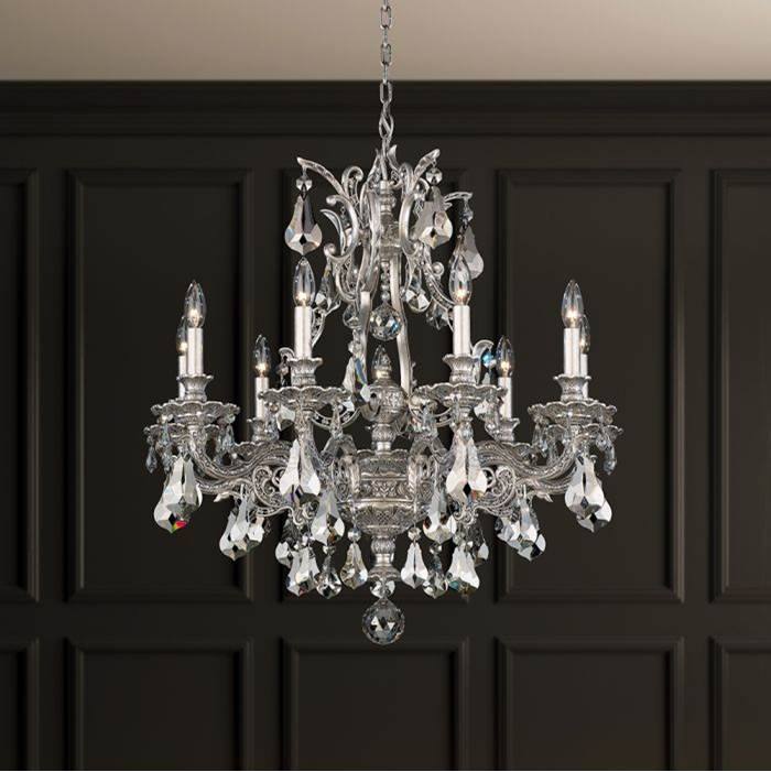 Schonbek Sophia 9 Light 110V Chandelier in Midnight Gild with Clear Crystals From Swarovski®