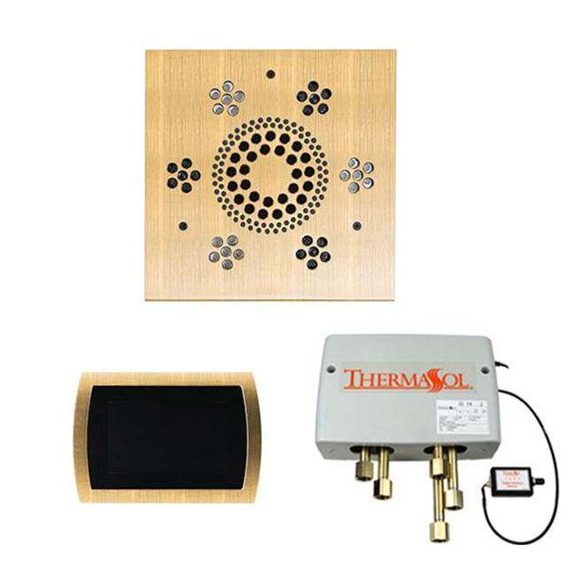 Thermasol The Wellness Shower Package with SignaTouch Trim Upgraded Square Antique Brass