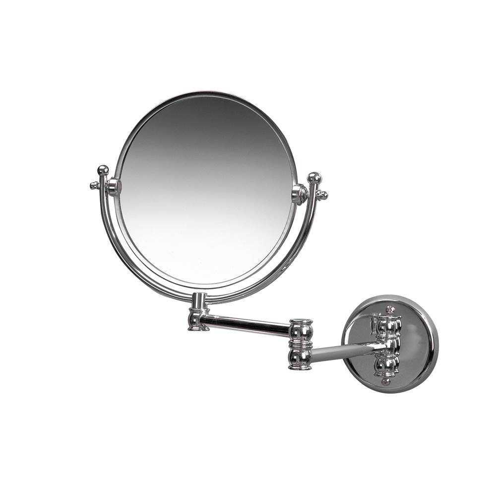 Valsan Classic Satin Nickel Wall Mounted x3 Magnifying Mirror