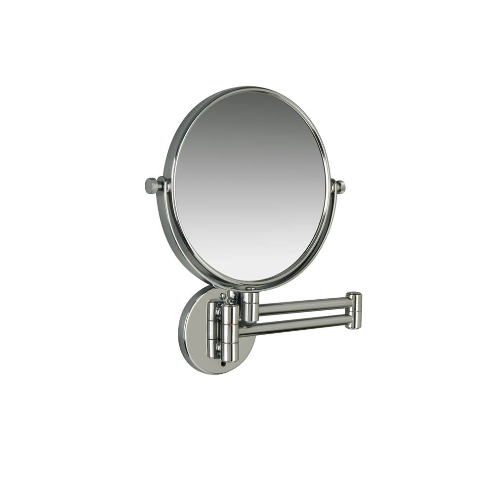 Valsan Classic Polished Nickel Contemporary Wall Mounted x3 Magnifying Mirror