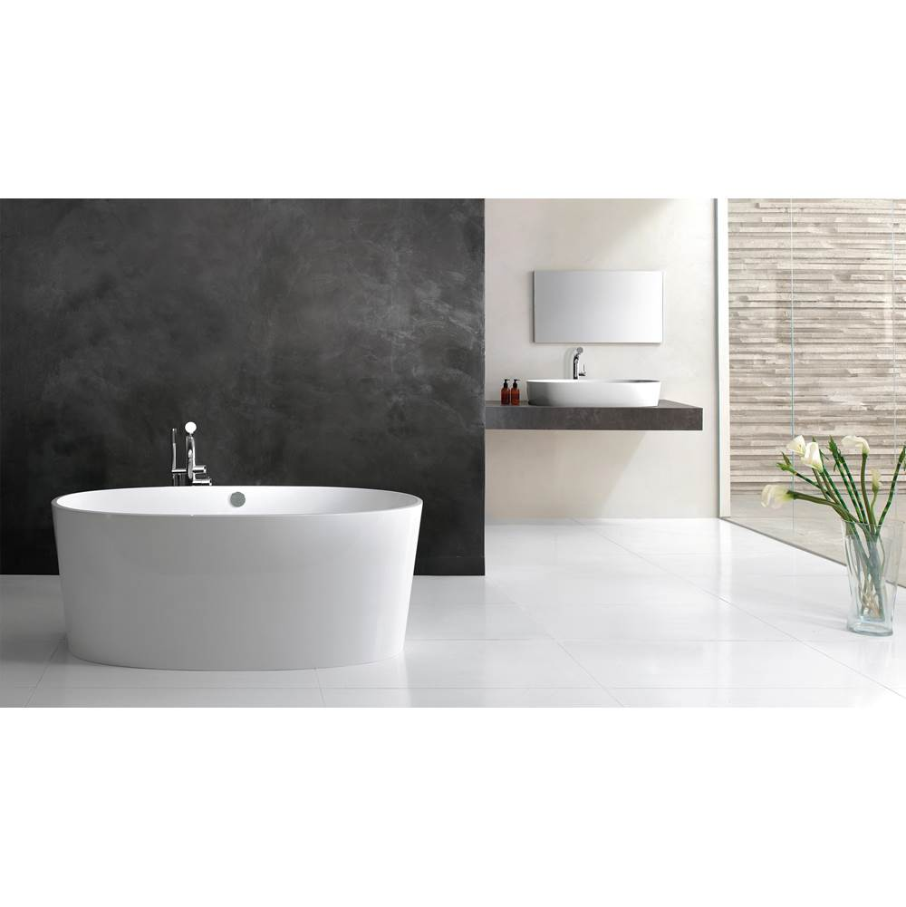 Victoria + Albert Victoria+Albert Ios 59'' Freestanding Bathtub In White Matte With Overflow