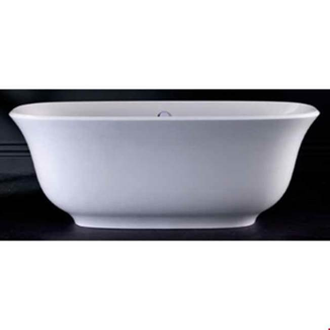 Victoria + Albert Victoria+Albert Amiata 65'' Freestanding Bathtub In Standard White With Overflow