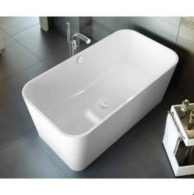 Victoria + Albert Victoria+Albert Edge 59'' Freestanding Bathtub In Standard White With No Overflow