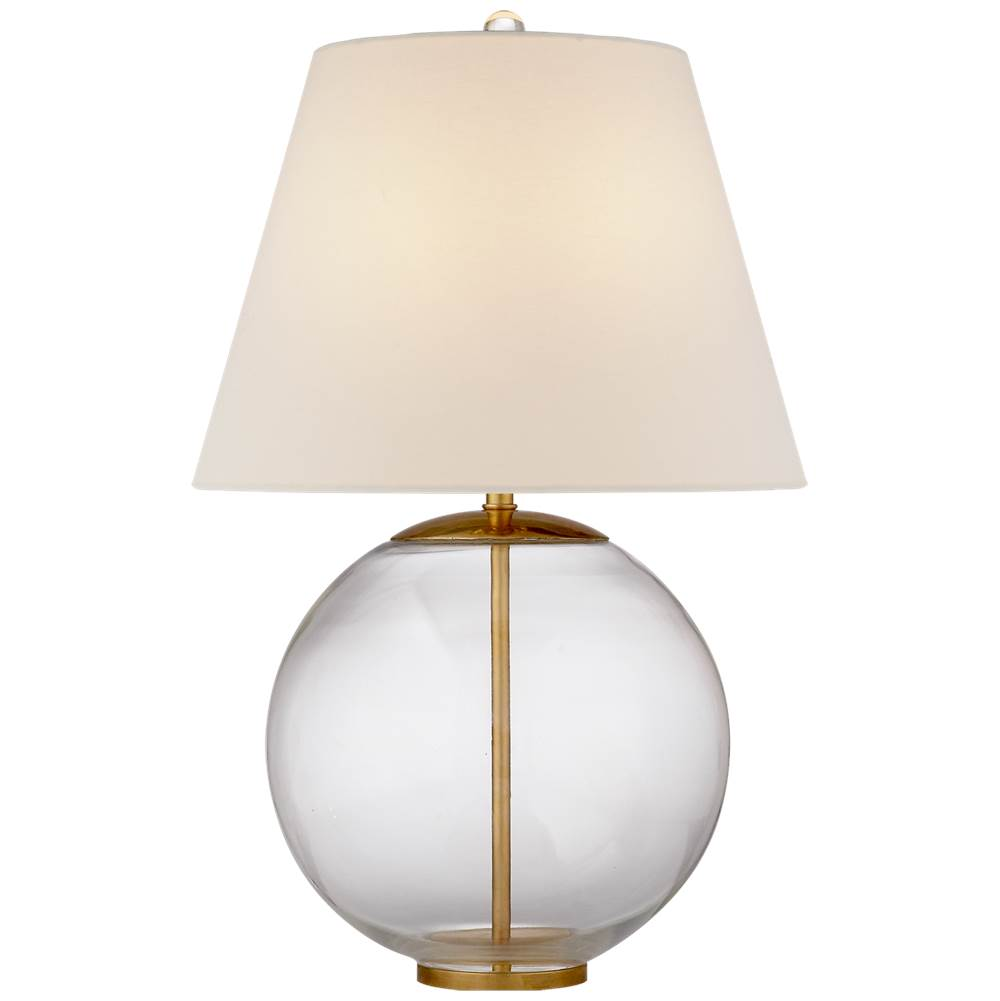 Visual Comfort Morton Table Lamp in Clear Glass