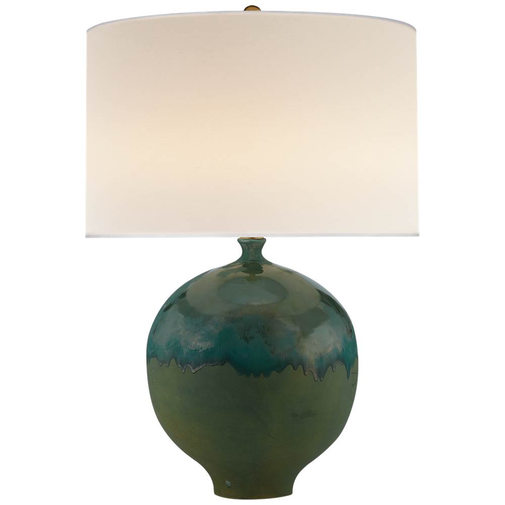 Visual Comfort Gaios Table Lamp in Volcanic Verdi