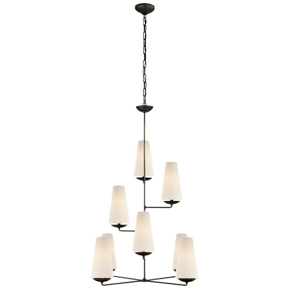 Visual Comfort Fontaine Vertical Chandelier in Aged Iron
