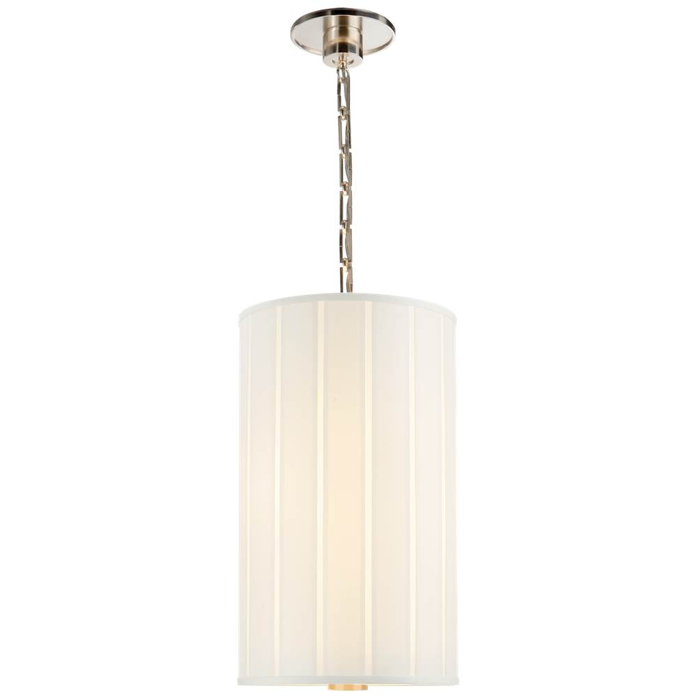 Visual Comfort Perfect Pleat Tall Hanging Shade in Soft Silver