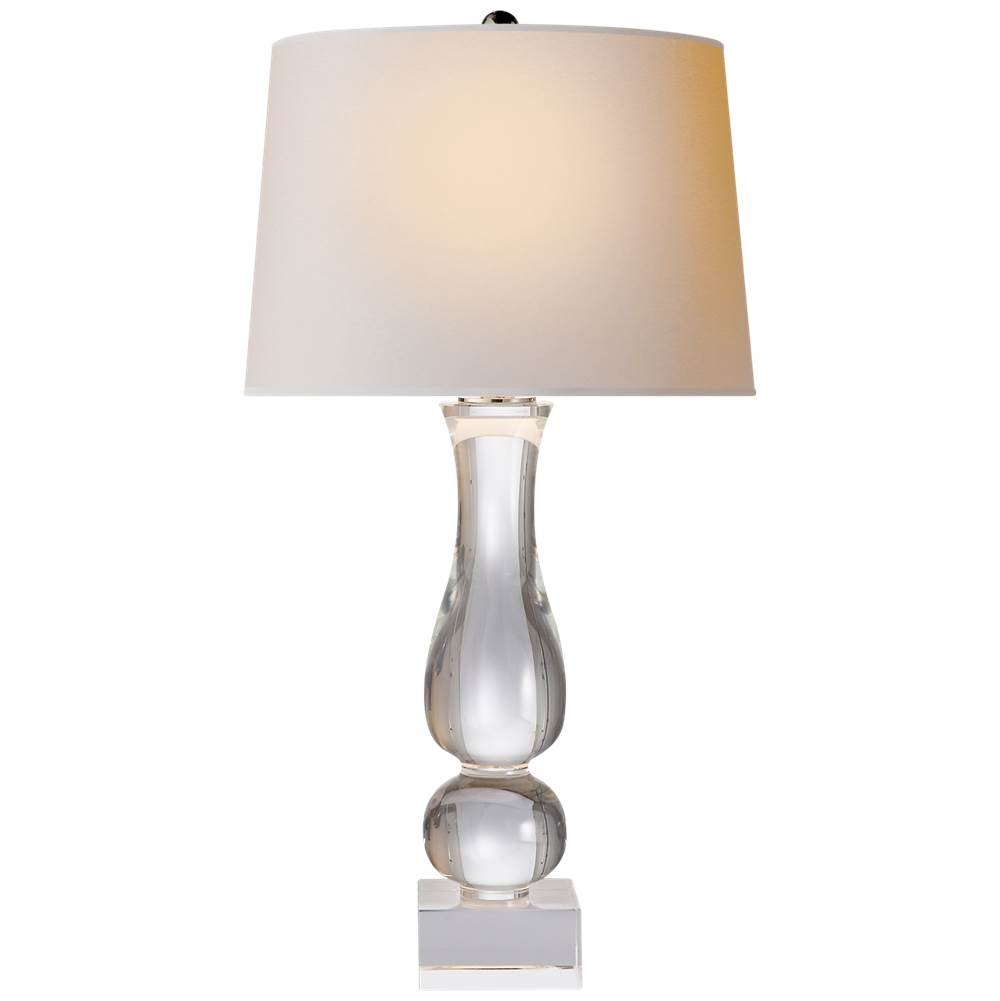 Visual Comfort Contemporary Balustrade Table Lamp in Crystal