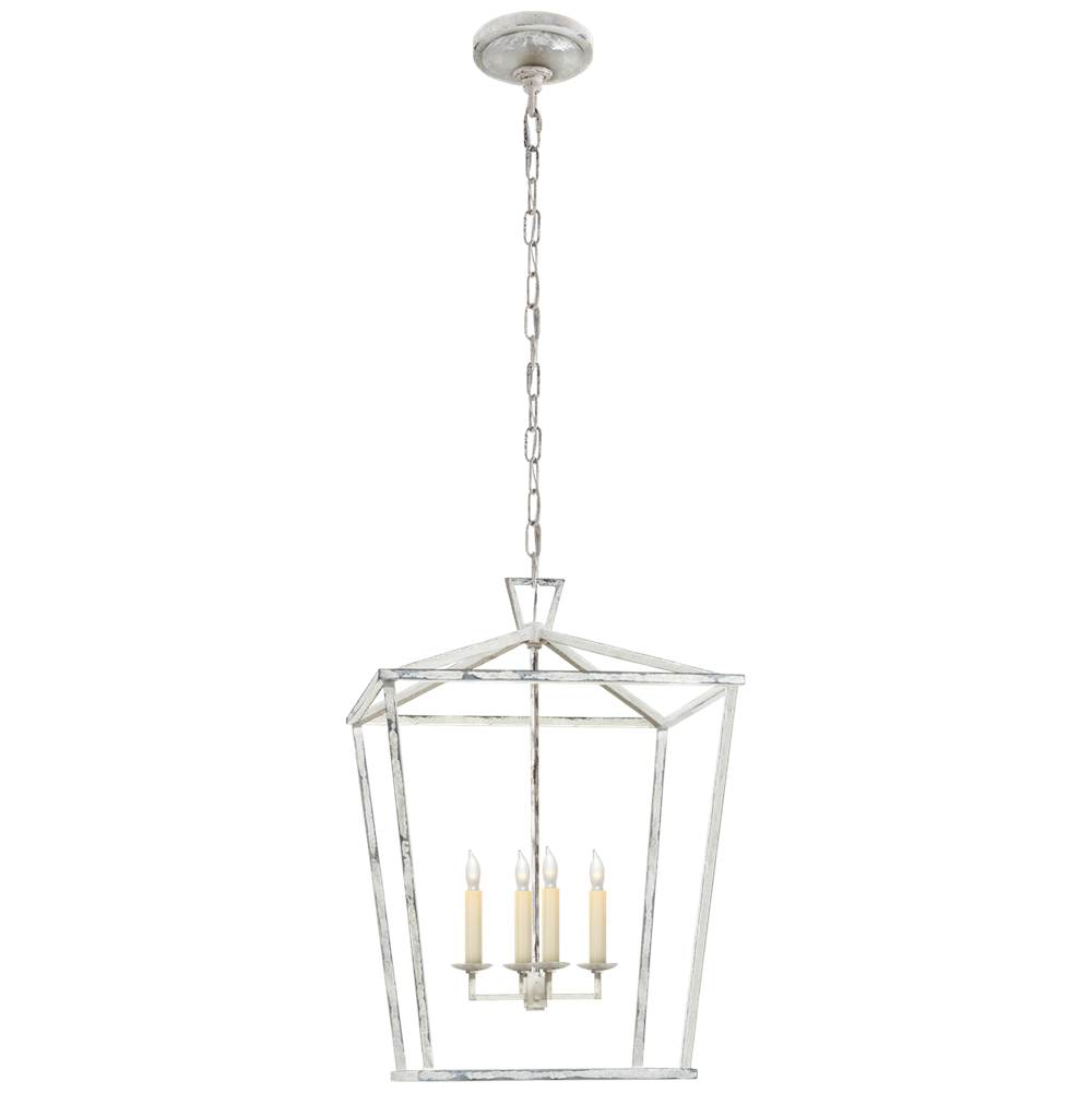 Visual Comfort Darlana Medium Lantern in Old White