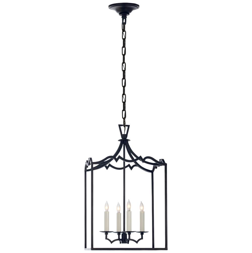 Visual Comfort Darlana Small Fancy Lantern in Aged Iron