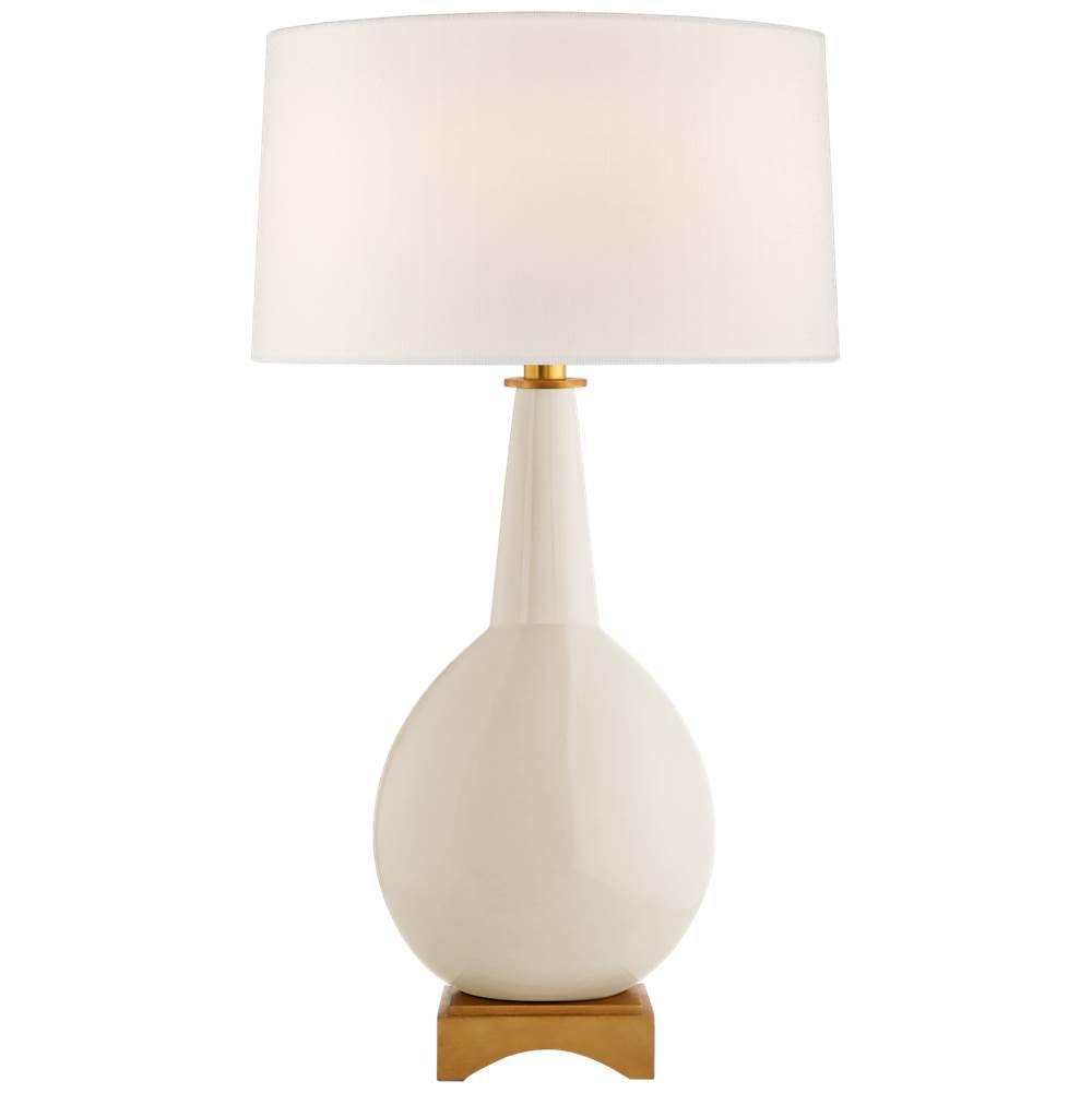 Visual Comfort Antoine Large Table Lamp in Ivory