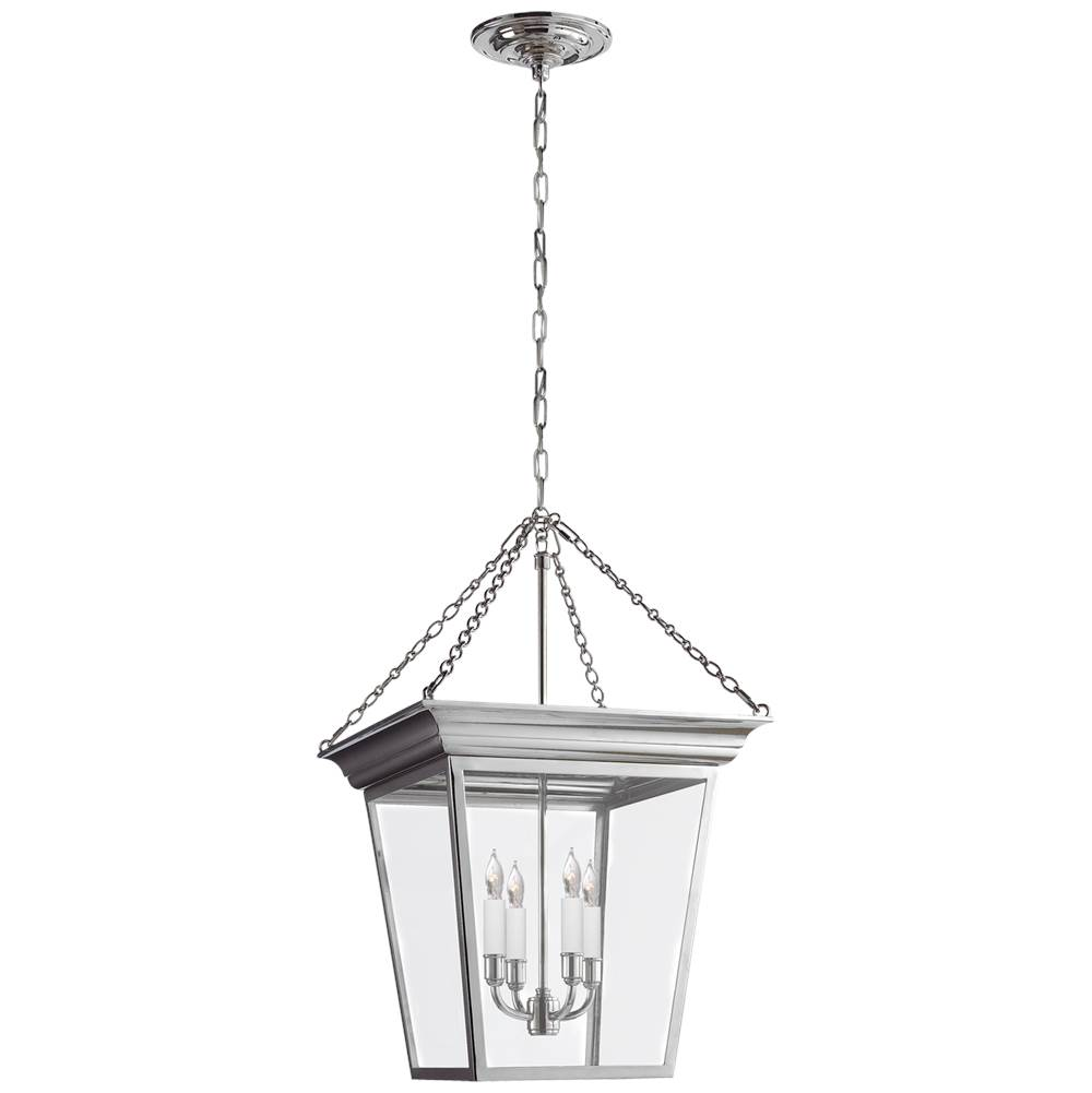 Visual Comfort Cornice Small Lantern in Polished Nickel