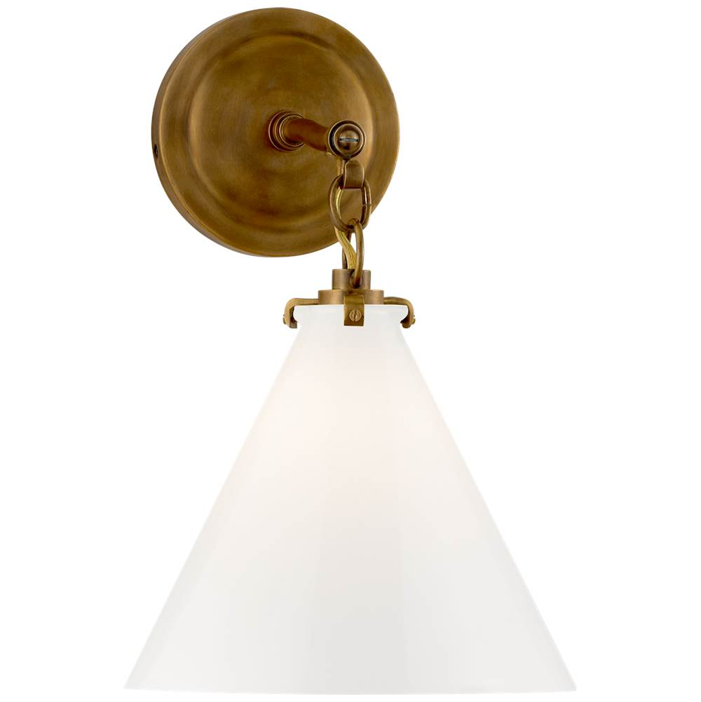 Visual Comfort Katie Small Conical Sconce in Hand-Rubbed Antique Brass