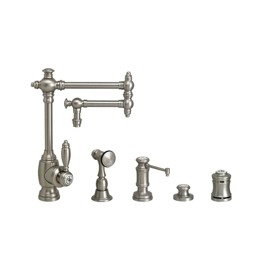 Waterstone Towson Kitchen Faucet - 12'' Articulated Spout - 4Pc. Suite