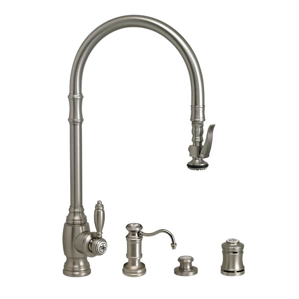 Waterstone Traditional Extended Reach Plp Pulldown Faucet - 4Pc. Suite