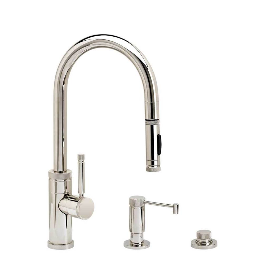Waterstone Industrial Prep Size Plp Pulldown Faucet - Toggle Sprayer - 3Pc. Suite