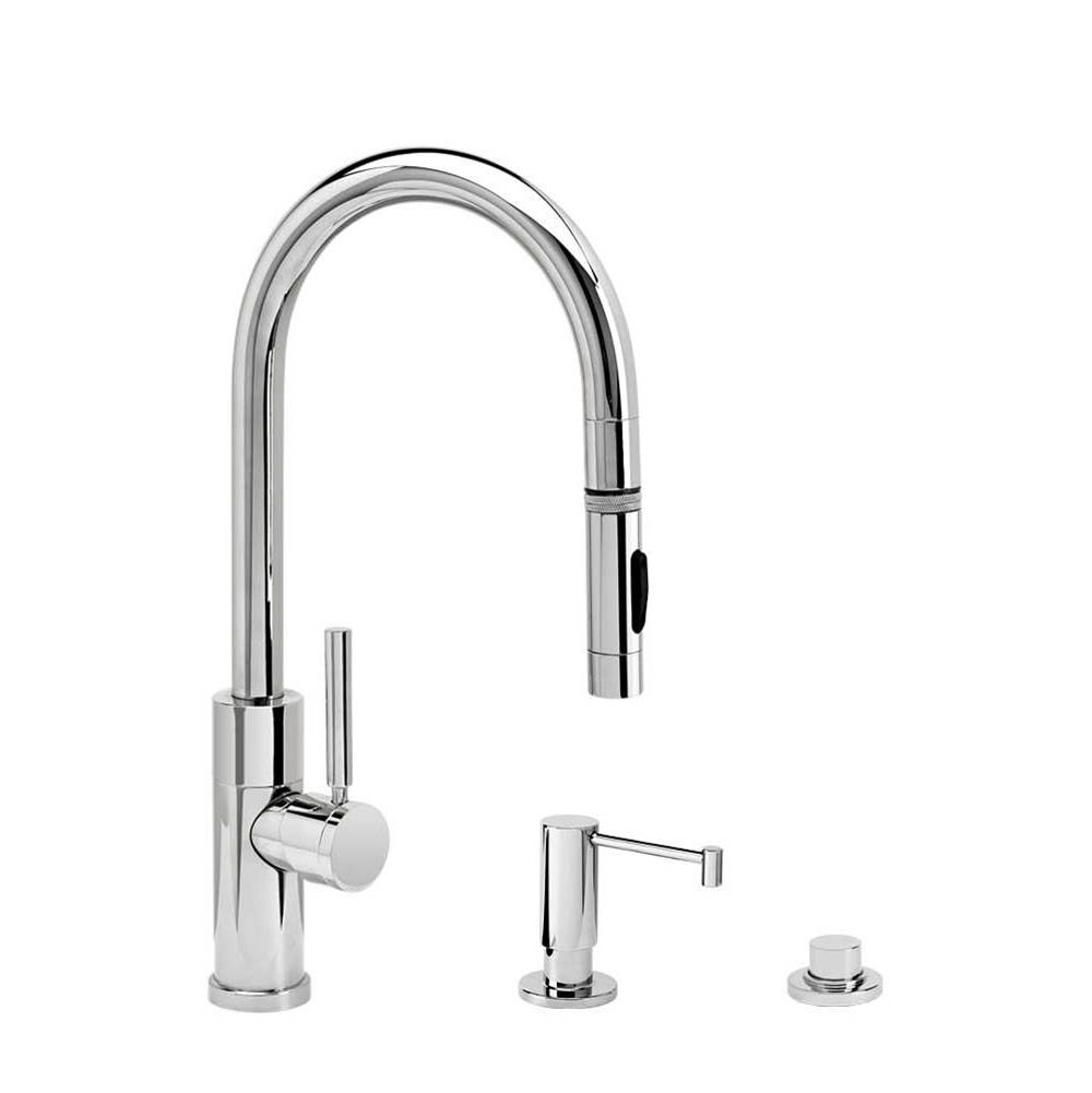 Waterstone Modern Prep Size Plp Pulldown Faucet - Toggle Sprayer - 3Pc. Suite