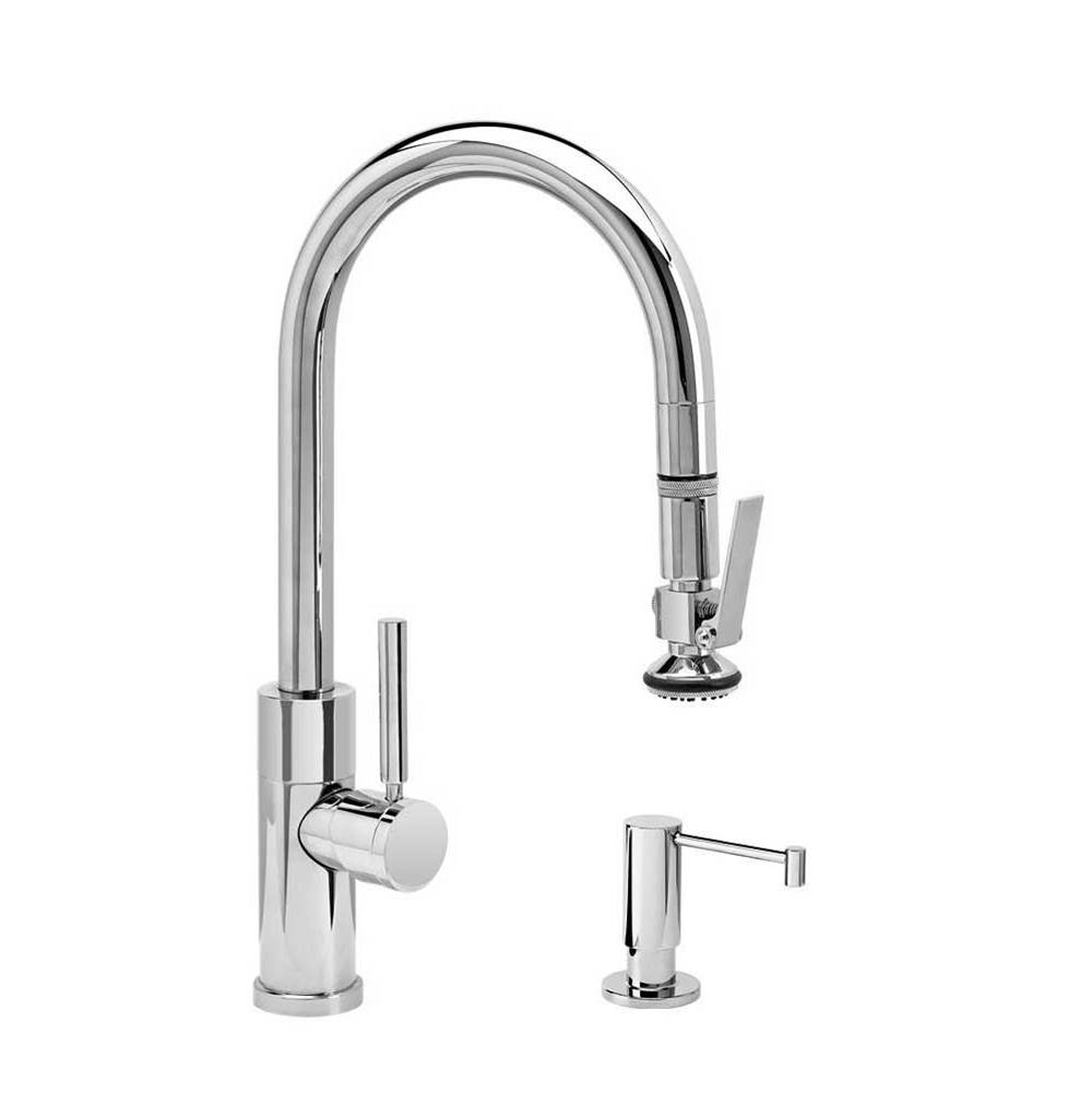 Waterstone Modern Prep Size Plp Pulldown Faucet - Lever Sprayer - 2Pc. Suite